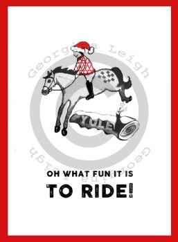 Horse Jump Christmas Card